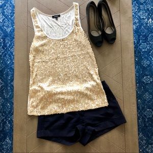 Sparkly gold top!